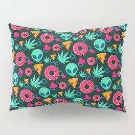 Cannabis Aliens Pizza Donut Pattern Gift Pillow Sham