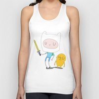 finn and jake Tank Tops featuring Finn & Jake by Rod Perich