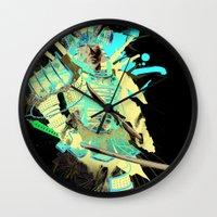 samurai Wall Clocks featuring Samurai by Kent Floris