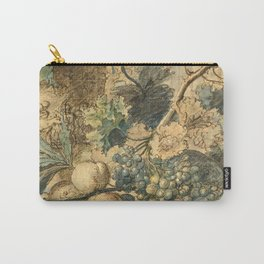 "Jan van Huysum ""Still life with flowers and fruits"" (drawing) Carry-All Pouch"