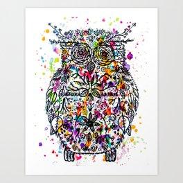 Owl Be Cool Art Print