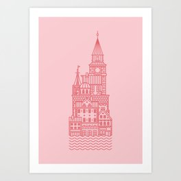 Copenhagen (Cities series) Art Print