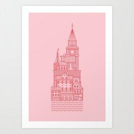 Copenhagen (Cities series) Art Print