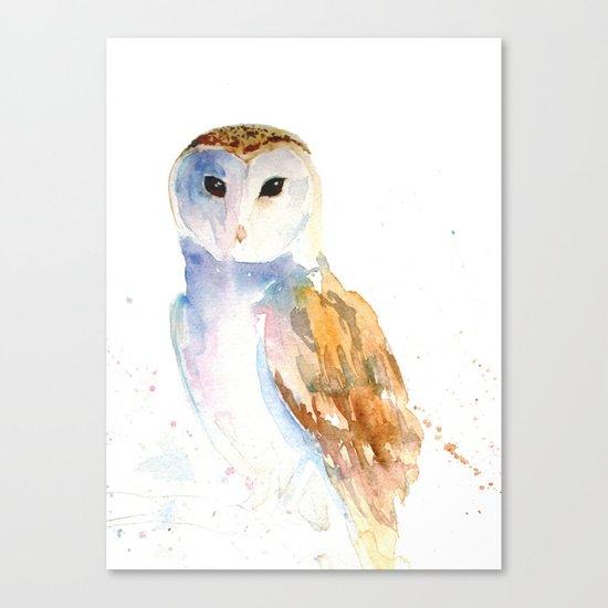 Evening Barn Owl Canvas Print