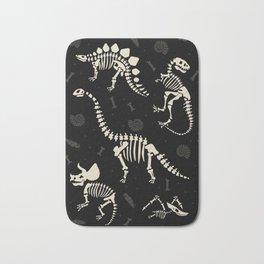 Dinosaur Fossils on Black Bath Mat