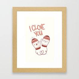 I glove you Framed Art Print