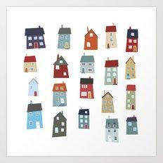 Little Houses Art Print