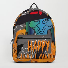 Bats & Witch Happy Halloween Backpack