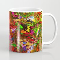 tim shumate Mugs featuring Substances by Tim Henderson by WhatisArt