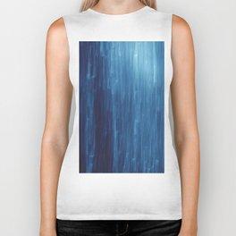 abstract blue rain Biker Tank