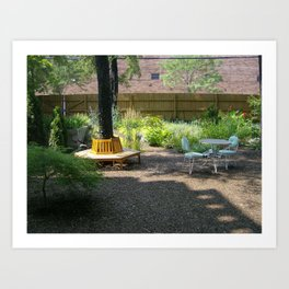 Solitude In The Backyard Garden Art Print