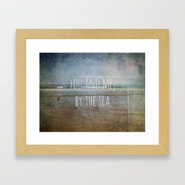 You and me, by the sea Framed Art Print
