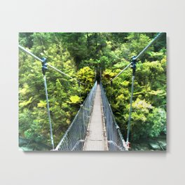 Is this your real path? The Bridge in Wild Rainforest Metal Print