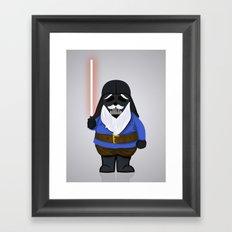 Darth Gnome Framed Art Print