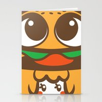 pagan Stationery Cards featuring Pagan Burger by Pagan Holladay