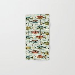 Vintage Color Block Fish Hand & Bath Towel