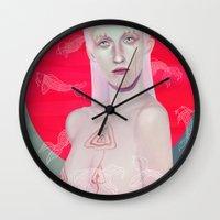koi Wall Clocks featuring Koi by Josh Merrick