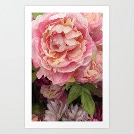 Oil Paint Flower Art Print