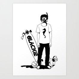 ///DIVE MAN/// Art Print