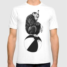 Chimp Mens Fitted Tee White MEDIUM