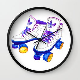 Roller Derby skaters Wall Clock