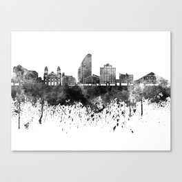San Jose skyline in black watercolor Canvas Print