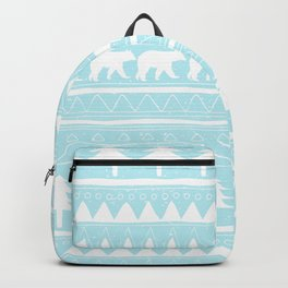 From Bears Winter And Christmas - Cute teal XMas Pattern Backpack