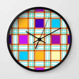 Colorf squares Wall Clock