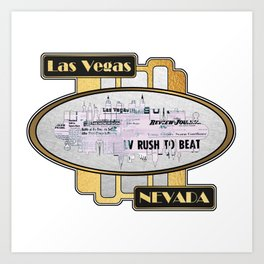 A Souvenir Of Las Vegas Nevada Art Print