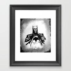 The Dark Bruce Framed Art Print
