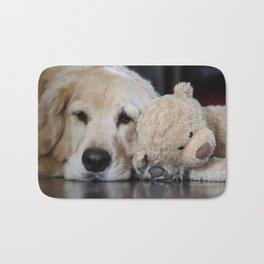 Golden Retriever with Best Friend Bath Mat