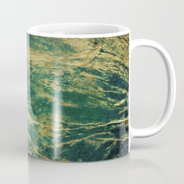 Classic Vintage Green Faux Marble With Gold Veins Coffee Mug