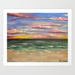 Emerald Coast Sunset Art Print