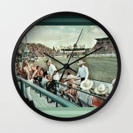Rodeo Hitchin' Wall Clock