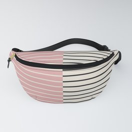 Color Block Lines XIV Vintage Pink Fanny Pack