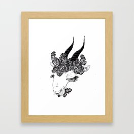 Hail the Kale Framed Art Print
