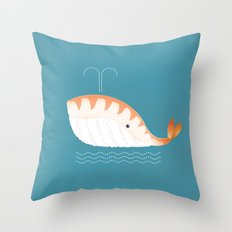 Legal Whale-Sushi Throw Pillow