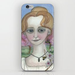 Blossoms Awake Spring,  Four Seasons Portrait iPhone Skin