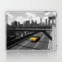 Yellow Cab on Brooklyn Bridge Laptop & iPad Skin
