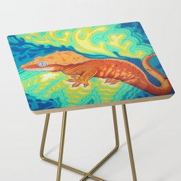 Red Crested Gecko Side Table