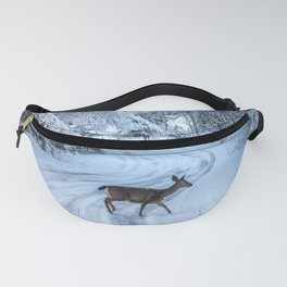 Winter Wildlife III - Deer Fawn Forest Adventure Nature Photography Fanny Pack