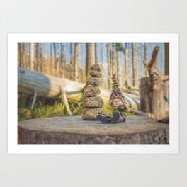 Wood Elf III Art Print