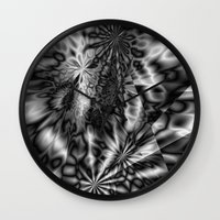 "psychedelic Wall Clocks featuring ""  psychedelic ""  by shiva camille"