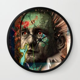 Dead and Famous: Johnny Cash Wall Clock