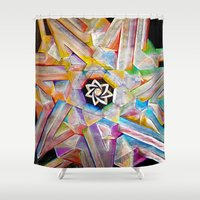 escher Shower Curtains featuring Escher Star by Todd Huffine