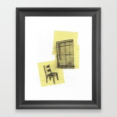 invisible man looking out of the window Framed Art Print
