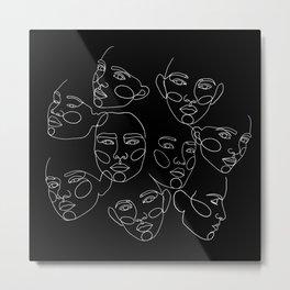 Hidden faces Metal Print