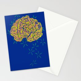 Floral Brain Stationery Cards