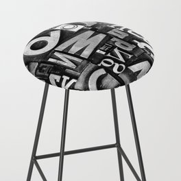 Metal Madness - Typography Photography™ Bar Stool