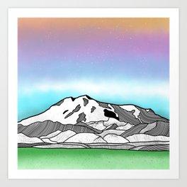 Mount Elbrus Art Print